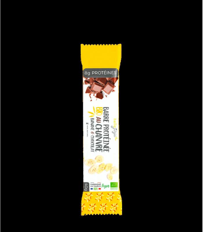 Barre protéinées Bio au chanvre banane chocolat
