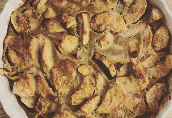 Recette gâteau aux fleurs CBD et pommes